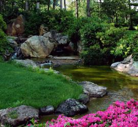 Dan din egen japanske have med brug af granitskærver